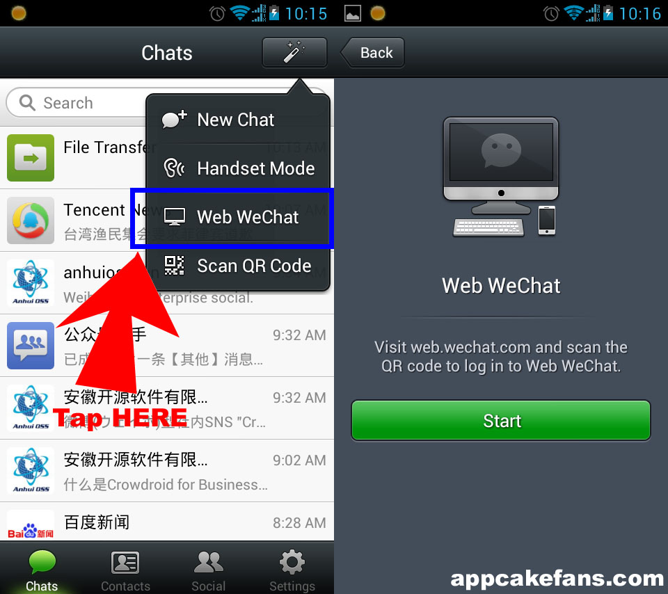 Weixin Web Chat