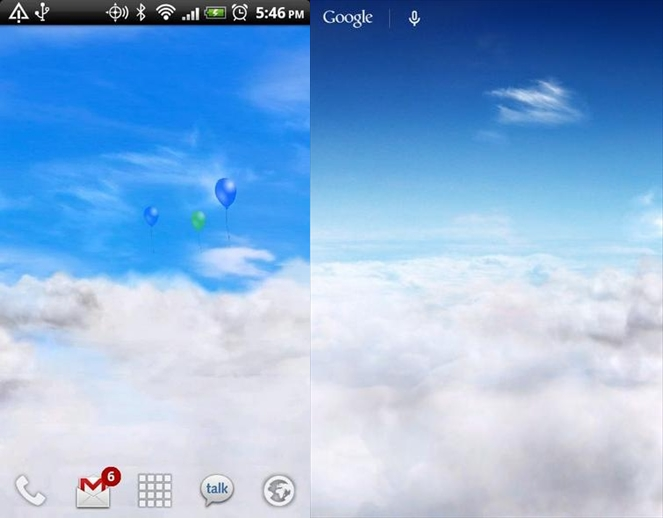 Blue Skies Free Live Wallpaper