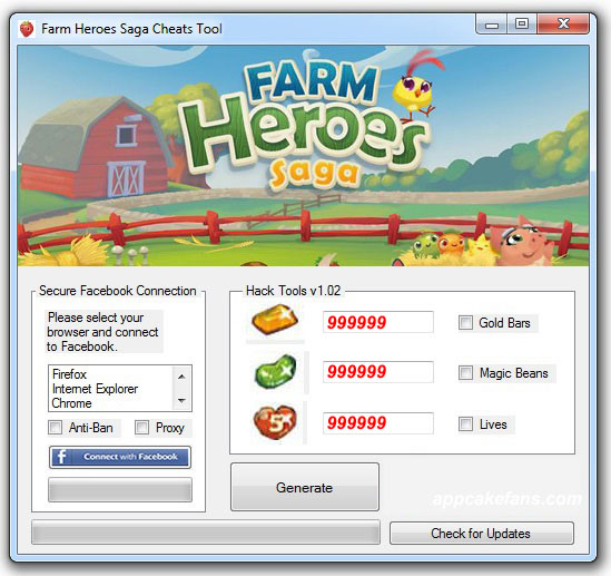 Farm Heroes Saga Hack Tools