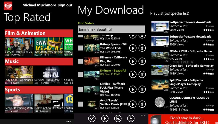Tube Pro Windows Phone