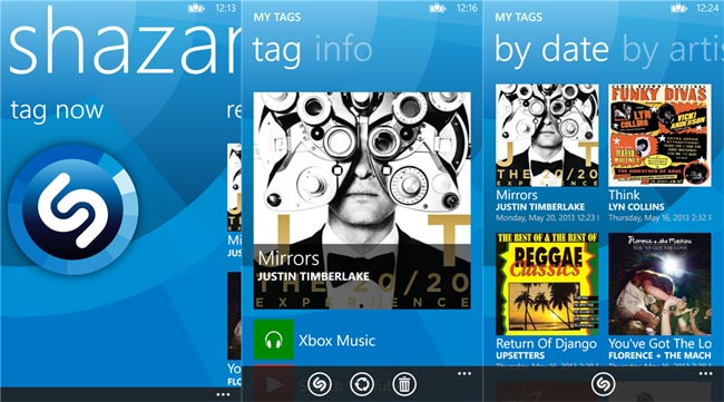 Shazam free Windows phone apps