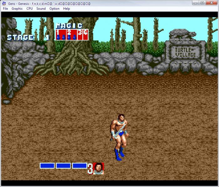 Gens SEGA Mega Drive emulator