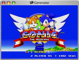 Generator Sega Genesis emulator